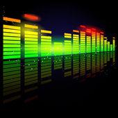 цифровой эквалайзер — Cтоковый вектор