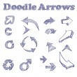 Vector Doodle Arrows — Stock Vector
