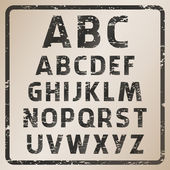 Rubber stamp font set — Stock Vector