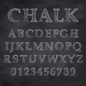 Chalky font — Stock Vector