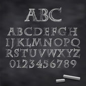 Vector chalk font — Stock Vector
