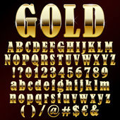 Vector gold font — Stock Vector