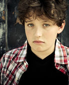 Sad Young Boy — Stock Photo