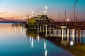 Pier At Night — Stock Photo