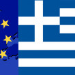 Stock Vector: Flag of Greece and EU