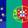 Flag of Portugal and EU — Stock Vector