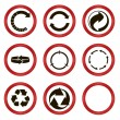 Set of circled arrows — Stock Vector