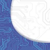 Computer circuit board — Stock Vector
