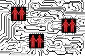 Placa de circuito de computador — Vetor de Stock