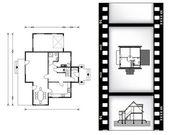 Plan Bauplan. Vektor-illustration — Stockvektor