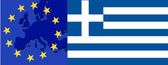 Flag of Greece and EU — Vector de stock