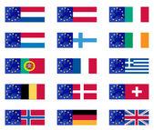 European country flags — Stock Vector
