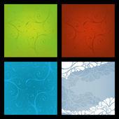 Abstracte naadloze bloemmotief — Stockvector