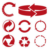 Set of circled arrows. vector icons — Stock Vector