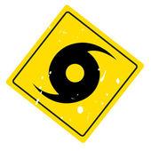 Hurricane warning sign — Stock Vector
