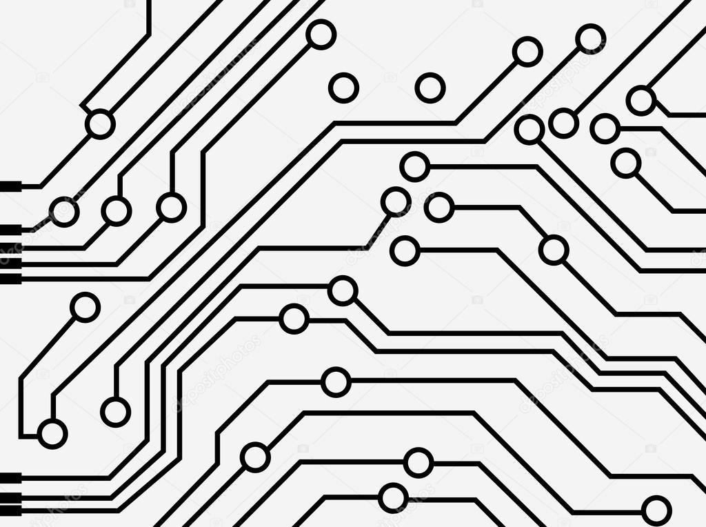 computer circuit board  u2014 stock vector  u00a9 spirit