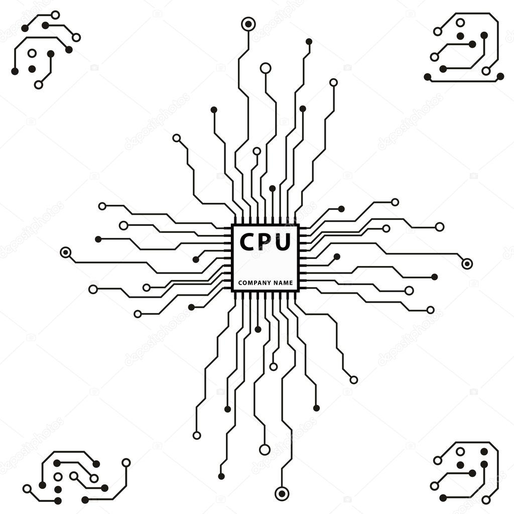 computer circuit board  u2014 stock vector  u00a9 spirit