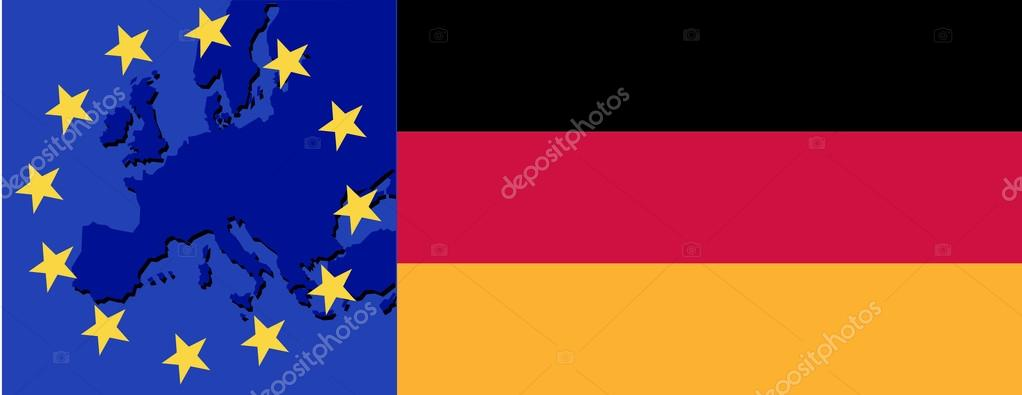 Flag of Germany and EU. vector illustration — Stock Vector #18341773