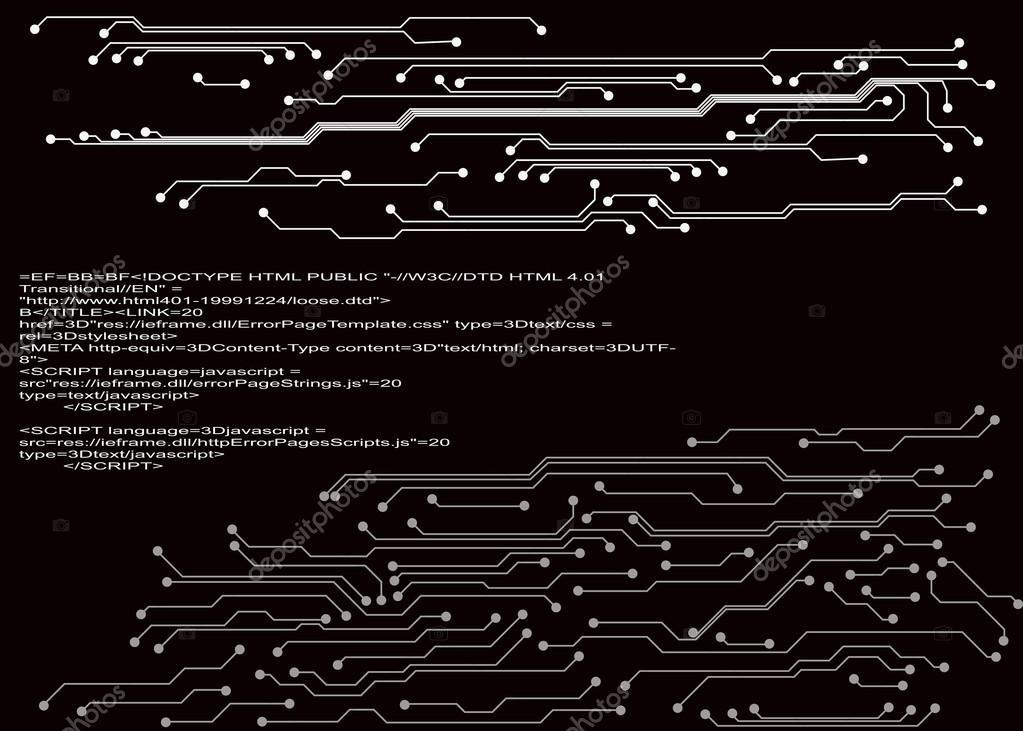 电路板的背景.eps10 矢量图–