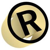Registered trademark sign — Stock Vector