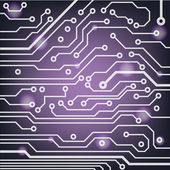 Circuit board pattern. abstract technology vector background — Stock Vector