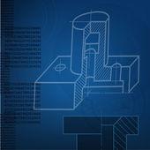 Abstract techno background. vector. EPS10 — Stock Vector