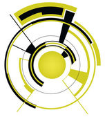 Abstract techno illustration — Stock Vector