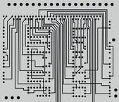 Placa de circuito de tecnologia abstrata — Vetor de Stock