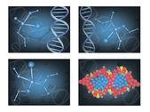 分子。eps10 矢量图分子。eps10 ベクトル イラスト — ストックベクタ