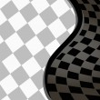 Vector checkered racing background. EPS10 — Vettoriali Stock
