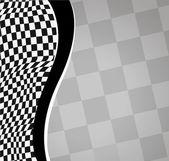 Vector checkered racing background. EPS10 — Stock Vector