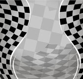 Vector checkered racing background. EPS10 — Stock Vector