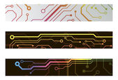 Techno circuit web banners. EPS10 vector illustration — Stockvektor