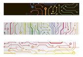 Techno-schaltung-web-banner. eps10-vektor-illustration — Stockvektor