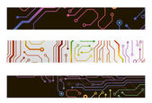Techno circuit web banners. EPS10 vector illustration — Stock Vector