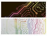 Techno 电路 web 横幅。eps10 矢量图 — 图库矢量图片