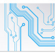 Techno circuit web banners. EPS10 vector illustration — Stock Vector