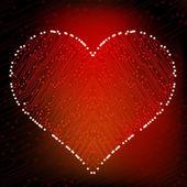 Valentine's day circuit heart. eps10 vector — Stock Vector