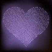 Valentine's day circuit heart. eps10 vector — Vector de stock