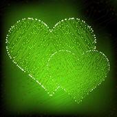 Valentine's day circuit heart. eps10 vector — Vettoriale Stock