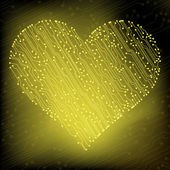 Valentine's day circuit heart. eps10 vector — ストックベクタ