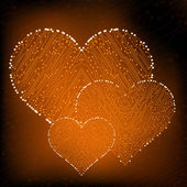 валентина сердце цепи. eps10 вектор — Cтоковый вектор