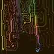 Circuit board background. eps10 vector illustration — ベクター素材ストック