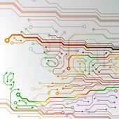 Circuit board background. eps10 vector illustration — Stock Vector