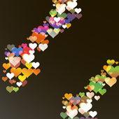 Saint-valentin abstrait avec des cœurs. eps10 vecteur — Vecteur