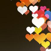 валентина абстрактный фон с сердечками. eps10 вектор — Cтоковый вектор