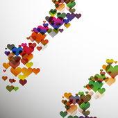 心とバレンタイン背景を抽象化します。eps10 ベクトル — ストックベクタ