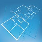 Home plan blueprint background. vector illustration — Stock Vector
