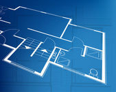 Home plan blueprint background. vector illustration — Vecteur