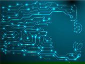 Circuit board background. eps10 vector illustration — Vettoriale Stock